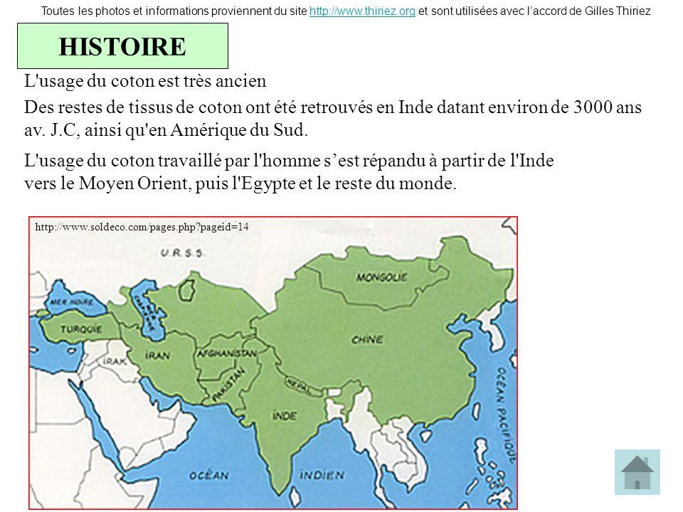 HISTOIRE Toutes les photos et informations proviennent du site http://www.thiriez.org et sont utilisées avec laccord de Gilles Thiriezhttp://www.thiri