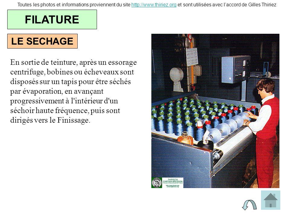 LE SECHAGE FILATURE Toutes les photos et informations proviennent du site http://www.thiriez.org et sont utilisées avec laccord de Gilles Thiriezhttp: