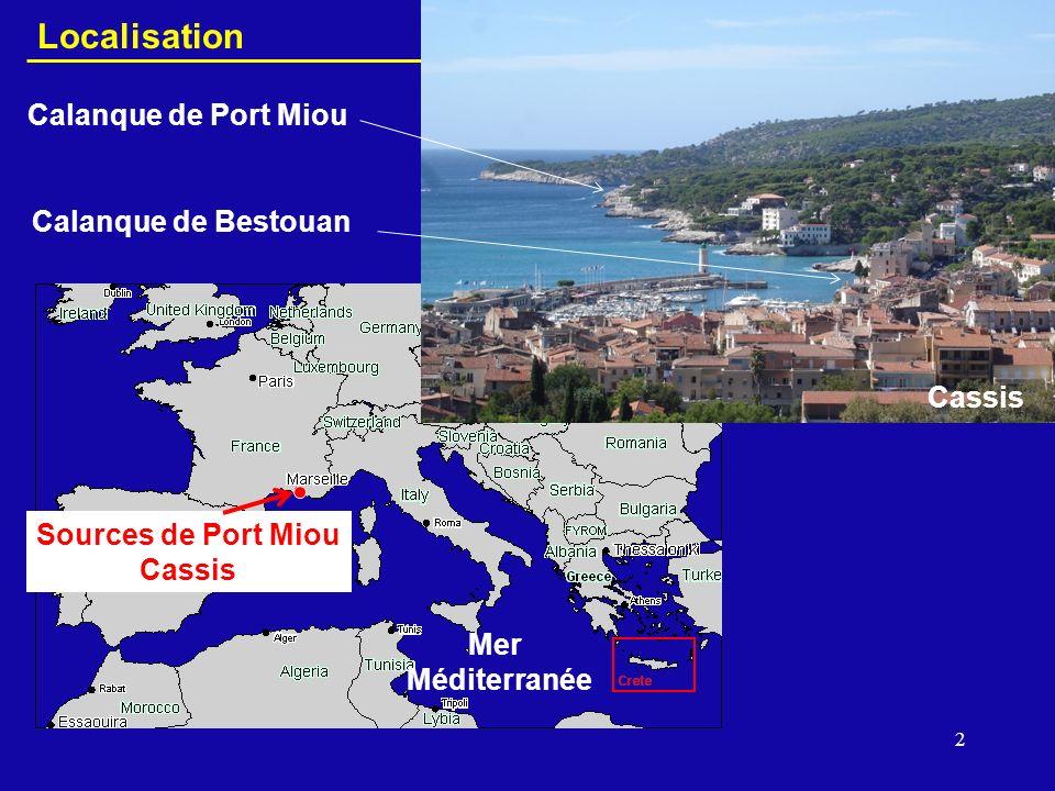 3 Port Miou Unité géologique du Beausset Cadre géologique - exutoires principaux en mer - Projet KarstEAU Demory et al.