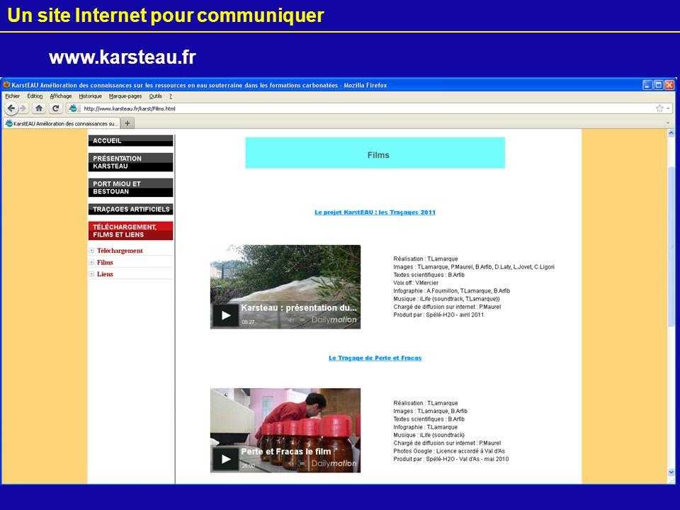 23 Un site Internet pour communiquer www.karsteau.fr