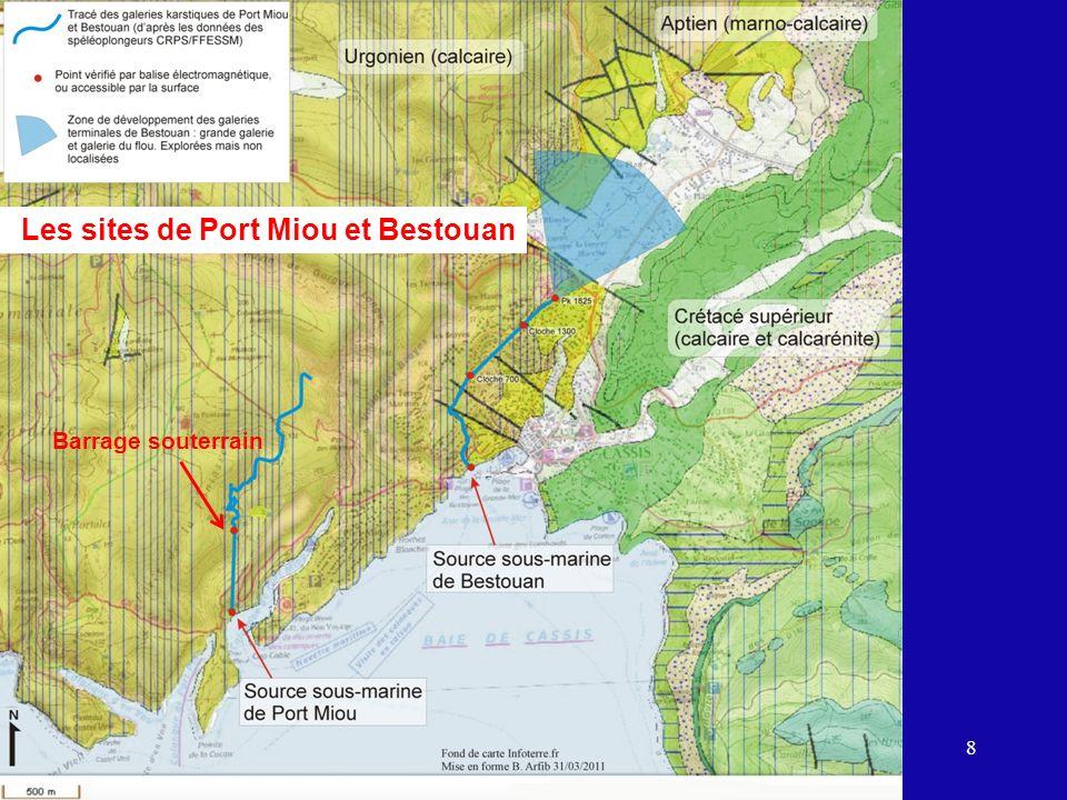 8 Les sites de Port Miou et Bestouan Barrage souterrain