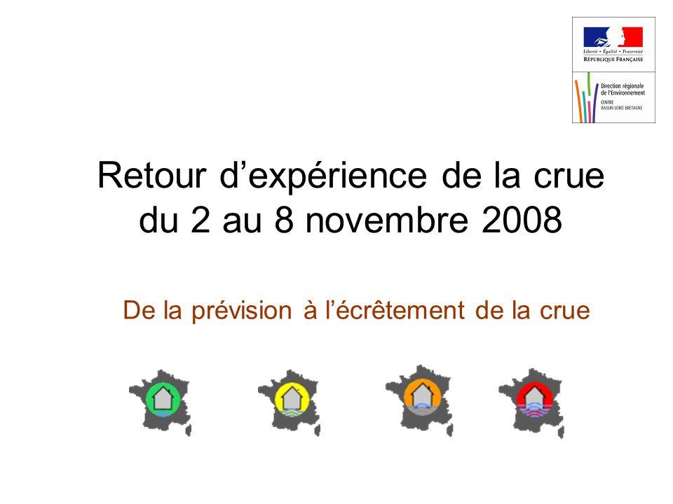 Retour dexpérience de la crue du 2 au 8 novembre 2008 De la prévision à lécrêtement de la crue