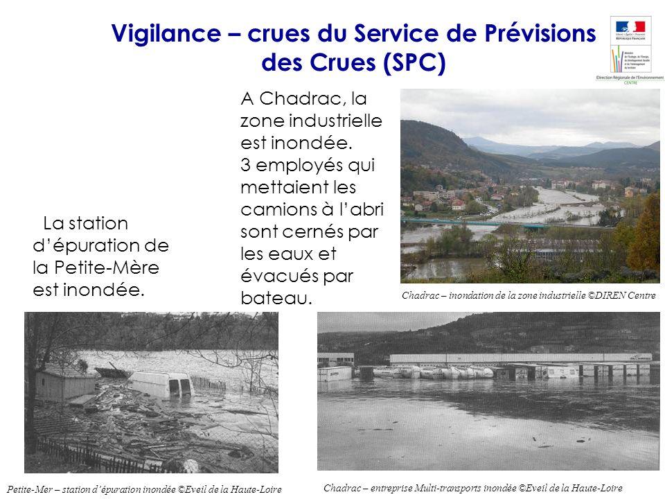 La station dépuration de la Petite-Mère est inondée. Chadrac – entreprise Multi-transports inondée ©Eveil de la Haute-Loire Chadrac – inondation de la