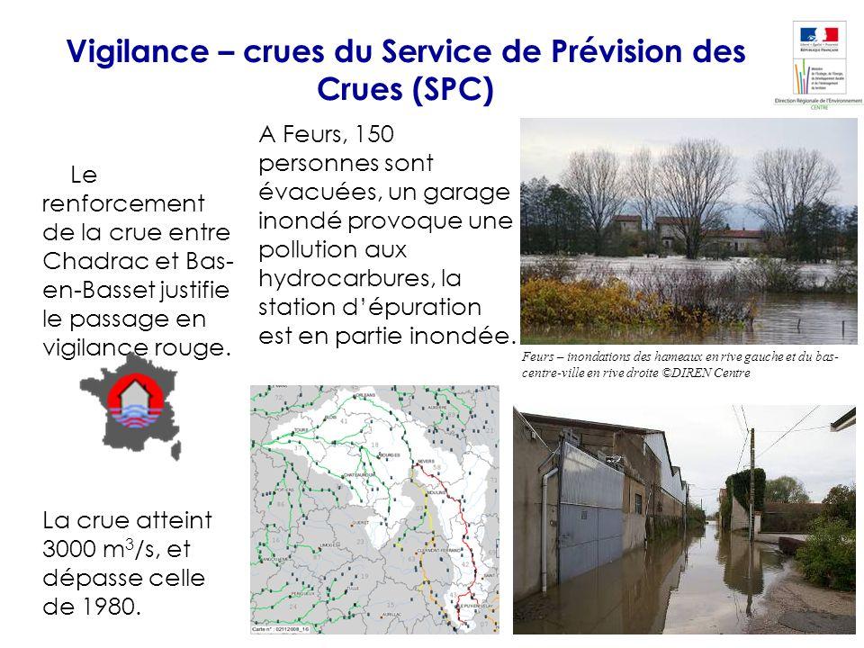 LeLe renforcement de la crue entre Chadrac et Bas- en-Basset justifie le passage en vigilance rouge. La crue atteint 3000 m 3 /s, et dépasse celle de