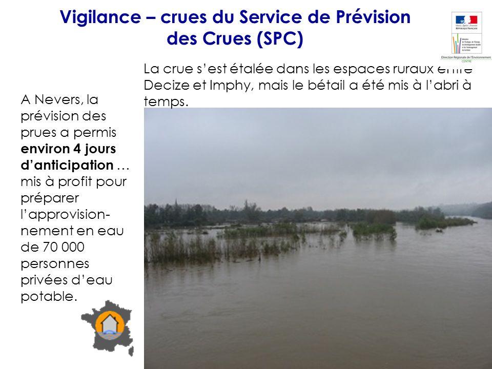 A Nevers, la prévision des prues a permis environ 4 jours danticipation … mis à profit pour préparer lapprovision- nement en eau de 70 000 personnes p