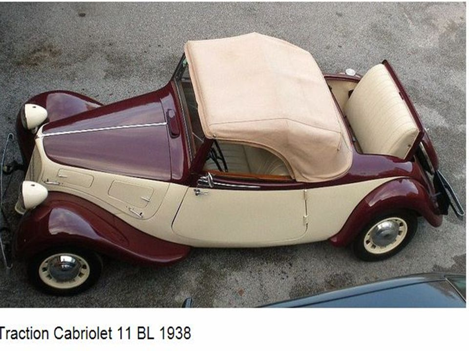 Traction avant cabriolet modèle 1938-1939