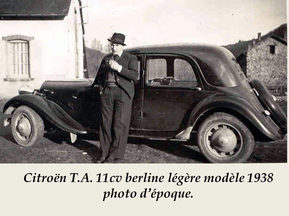 Châssis Citroën berline 11 cv