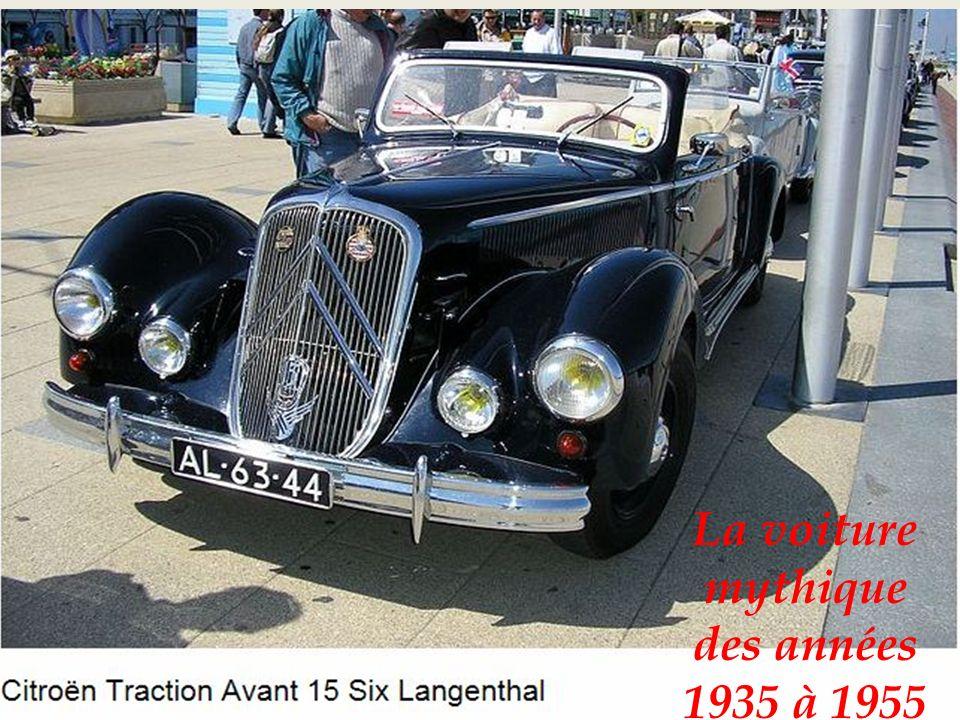 La dernière Citroën traction avant 15 six-H-1954 -1955-suspenson hydropneumatique à larrière-système repris par la suite sur la DS19