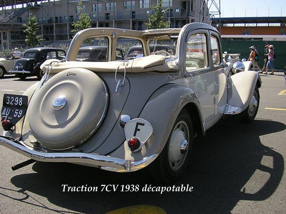 Citroën T.A. berline 11 légère – modèle 1939