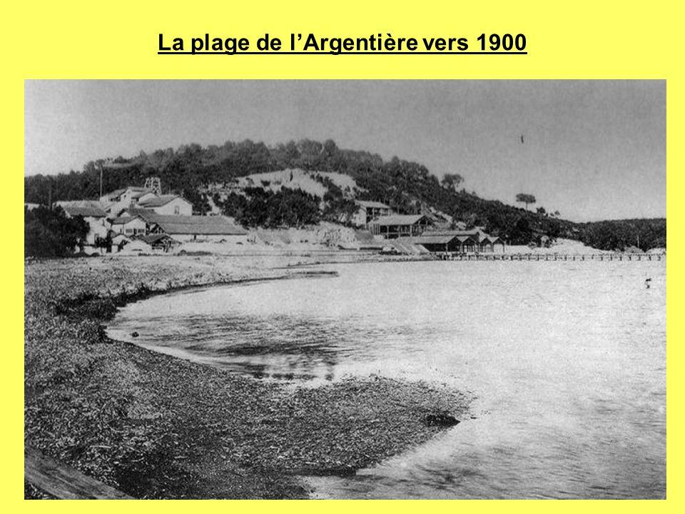 La plage de lArgentière vers 1900