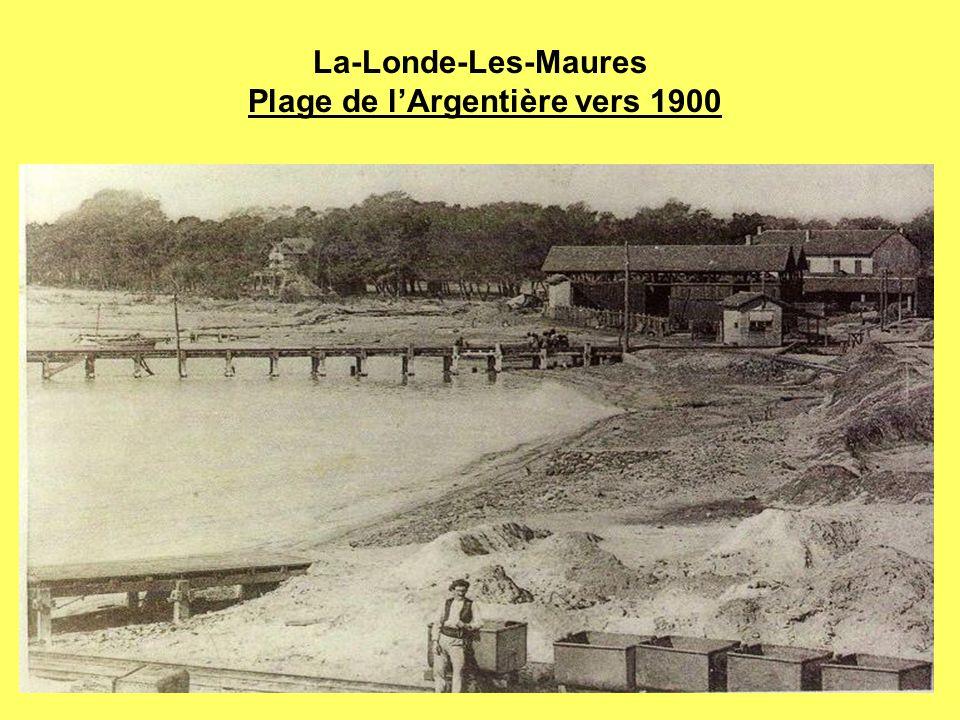 La-Londe-Les-Maures Plage de lArgentière vers 1900