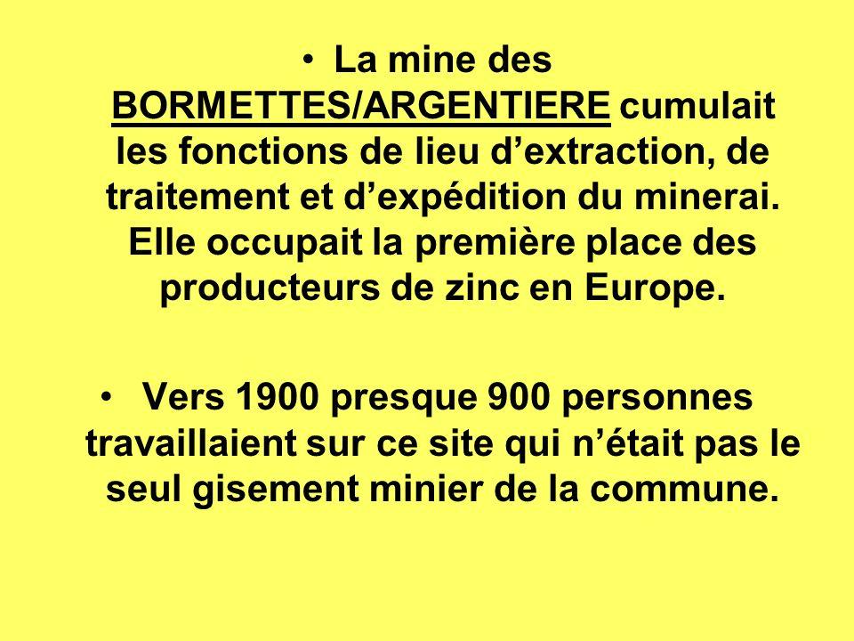 L extraction du minerai à lArgentière A lArgentière, le filon reconnu mesurait environ 400m de long.