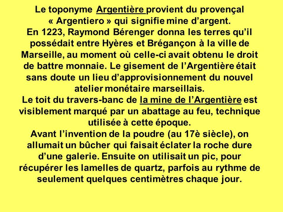 Le toponyme Argentière provient du provençal « Argentiero » qui signifie mine dargent.