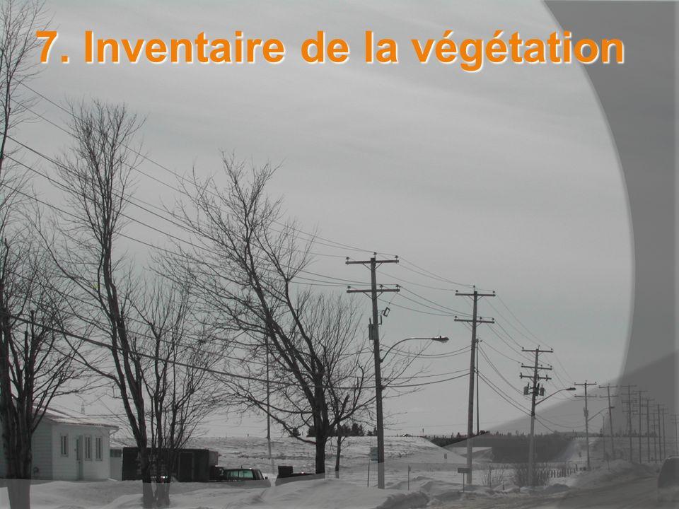 7. Inventaire de la végétation