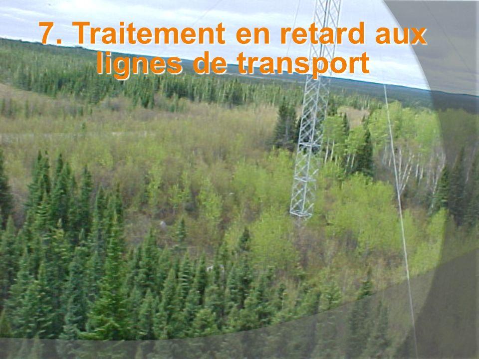 7. Traitement en retard aux lignes de transport