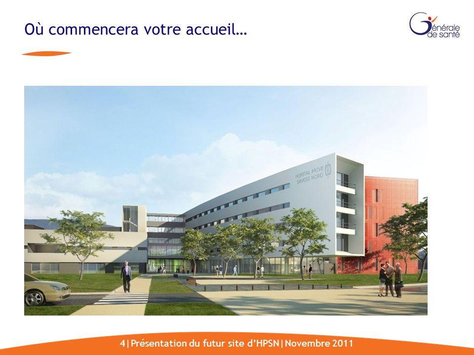 4|Présentation du futur site dHPSN|Novembre 2011 Où commencera votre accueil…