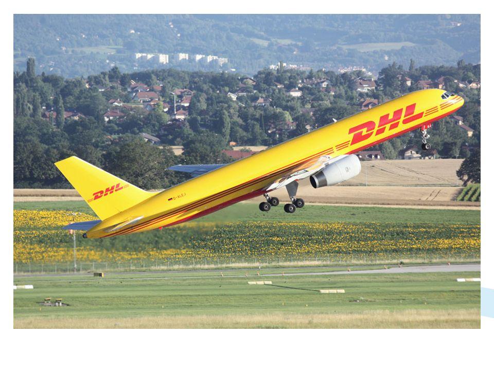 DHL, qui utilise un Boeing 737-300 les jours de semaine, opère également un vol le samedi matin avec un Boeing 757-200. Le vol repart en général à vid