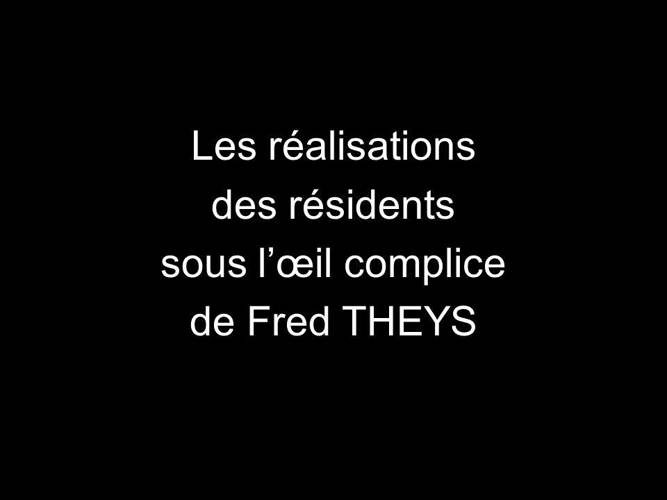 Les réalisations des résidents sous lœil complice de Fred THEYS