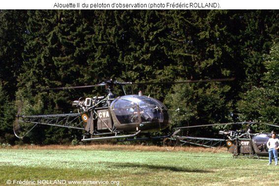 Alouette II du peloton d'observation (photo Frédéric ROLLAND).