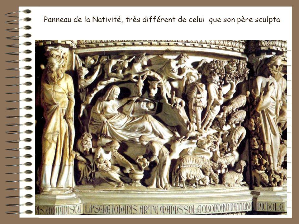 Cest le fils de Pisano, Giovanni Pisano Qui sculpta la chaire de la cathédrale, imitation de celle du baptistère. Les chaires des Pisano, polygonales