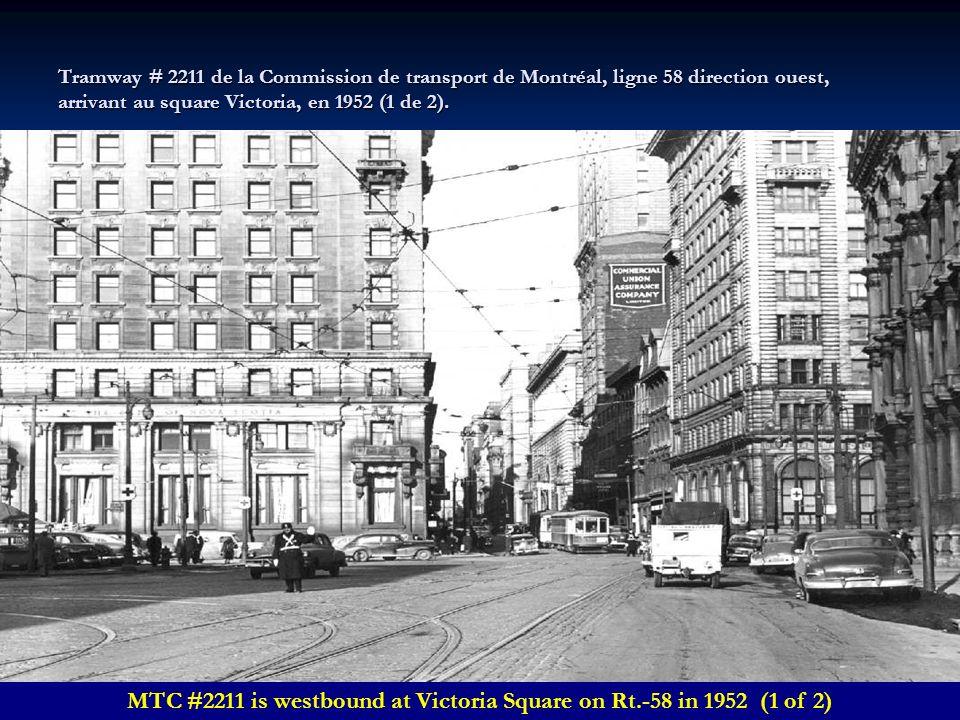 Tramway # 1323 de la Commission de transport de Montréal, ligne de la Montagne, sur le mont Royal en 1959.(3 de 3). Montreal Tramway Commission car #