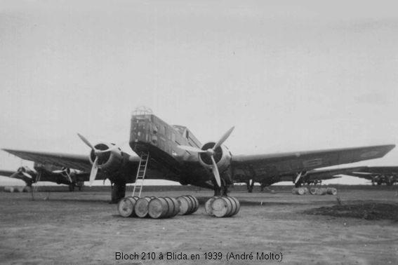 Bloch 210 à Blida en 1939 (André Molto)