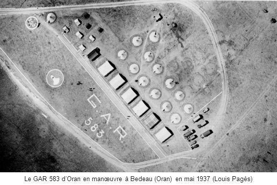 Le GAR 583 dOran en manœuvre à Bedeau (Oran) en mai 1937 (Louis Pagès)