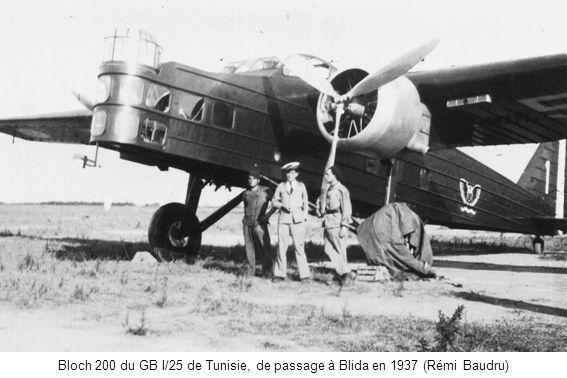 Bloch 200 du GB I/25 de Tunisie, de passage à Blida en 1937 (Rémi Baudru)