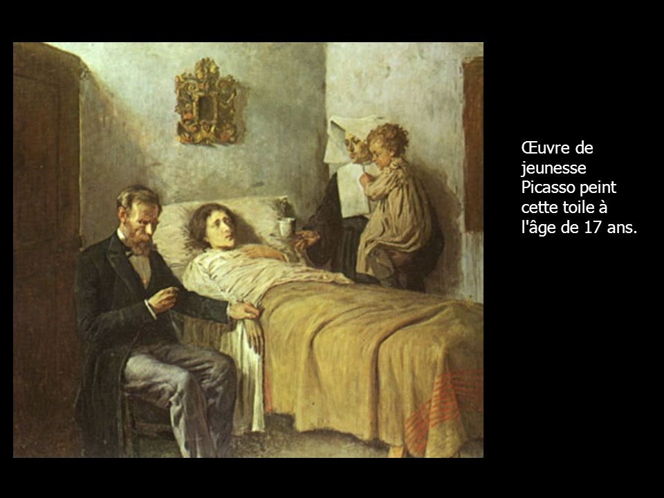 Œuvre de jeunesse Picasso peint cette toile à l'âge de 17 ans.