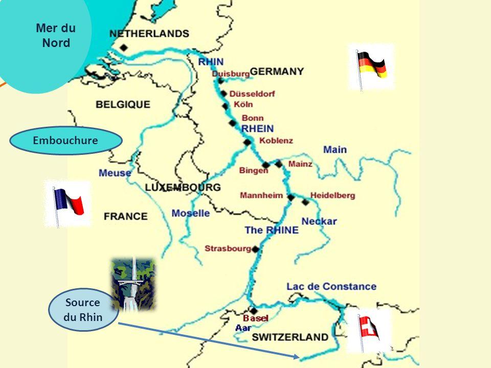 Le Rhin né en Suisse dans le massif du Saint-Gothard La naissance du Rhin 1320 km de son embouchure en Mer du Nord