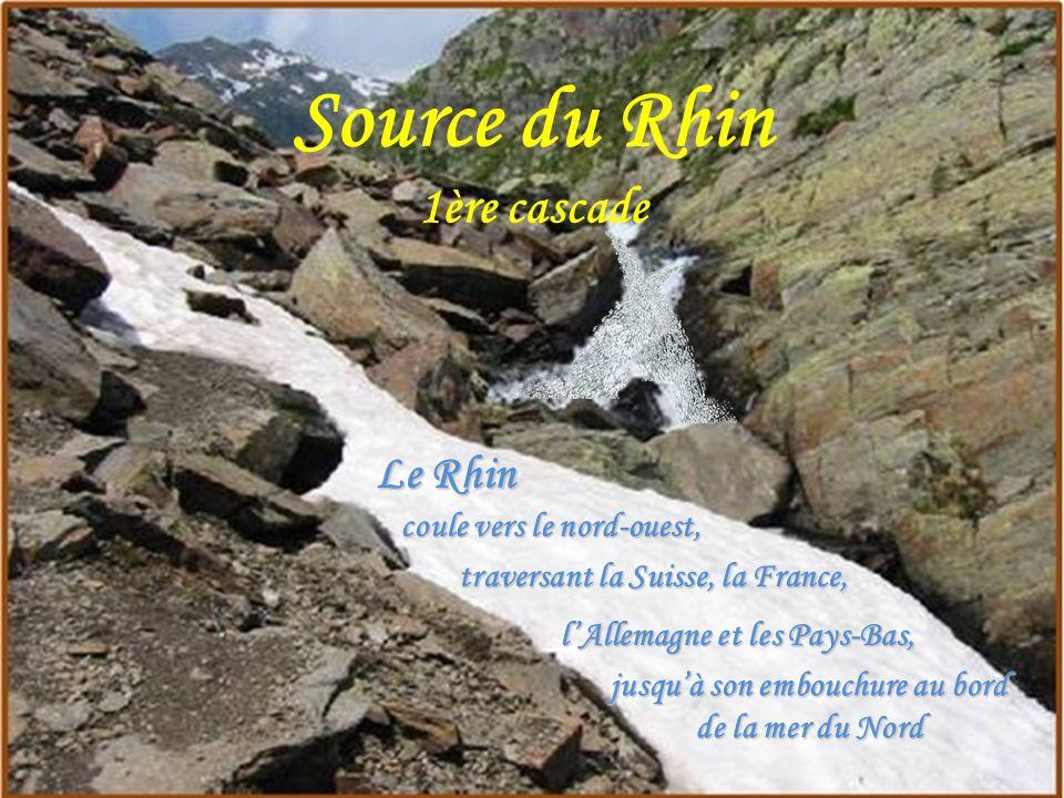 Source du Rhin Embouchure Mer du Nord