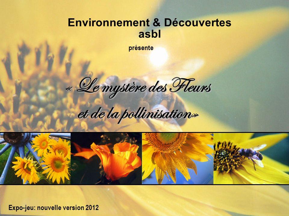 « Le mystère des Fleurs et de la pollinisation» Environnement & Découvertes asbl Expo-jeu: nouvelle version 2012 présente