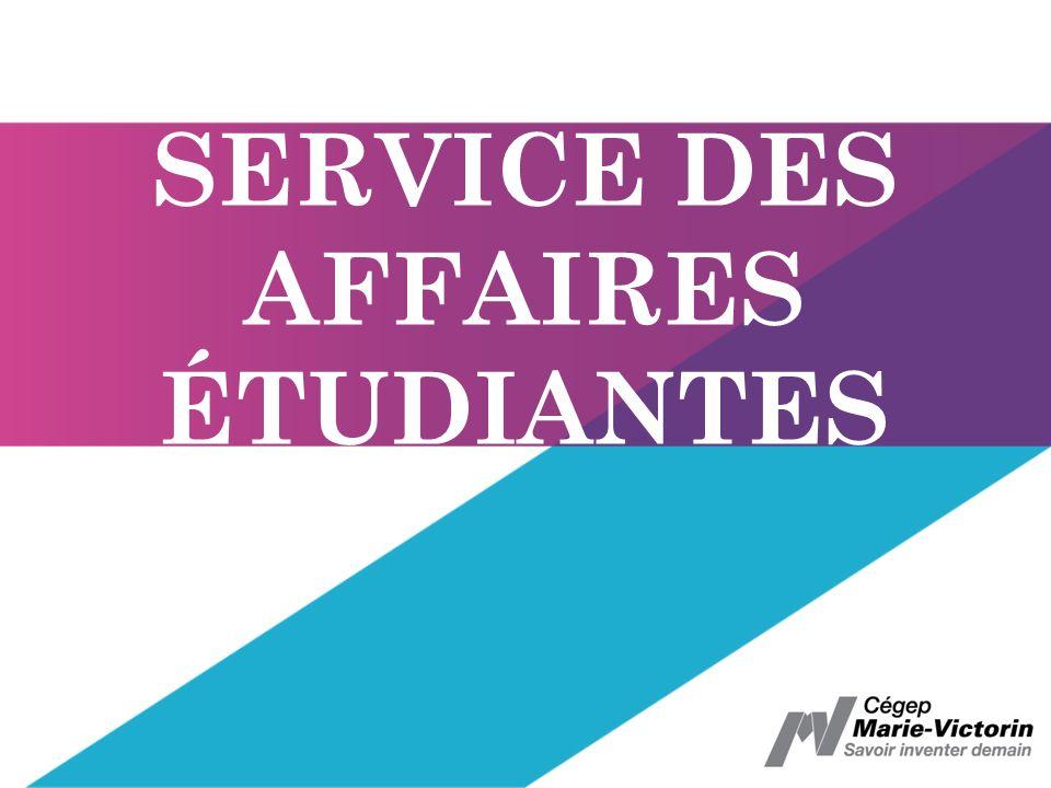 SERVICE DES AFFAIRES ÉTUDIANTES