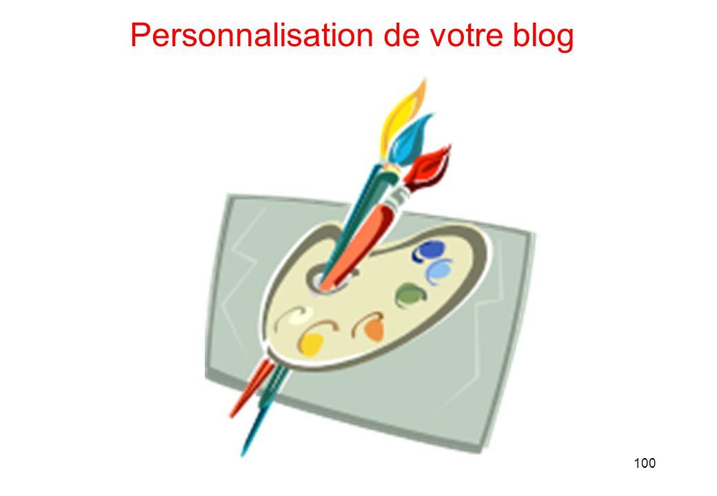 100 Personnalisation de votre blog
