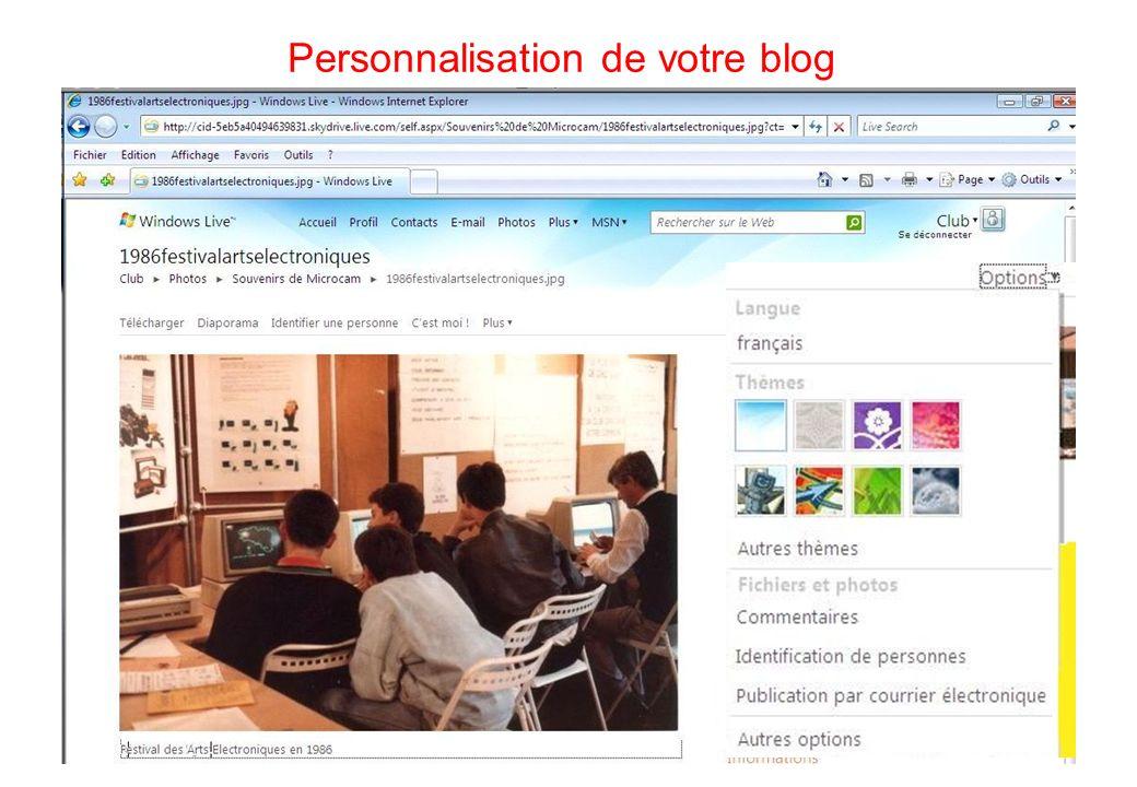 101 Personnalisation de votre blog