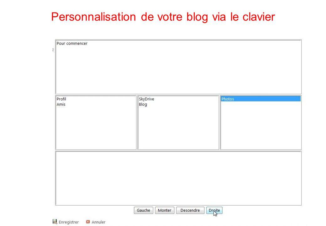 110 Personnalisation de votre blog via le clavier