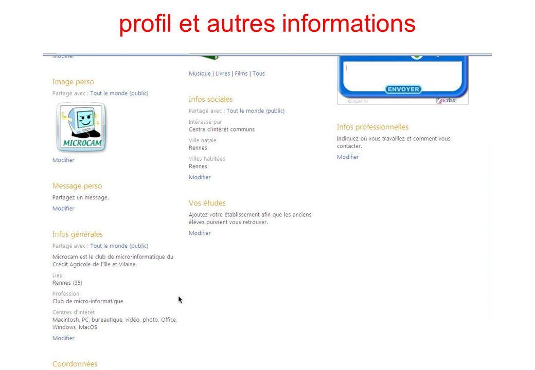 profil et autres informations 37