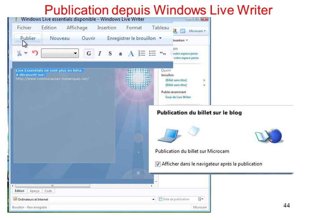 Publication depuis Windows Live Writer 44