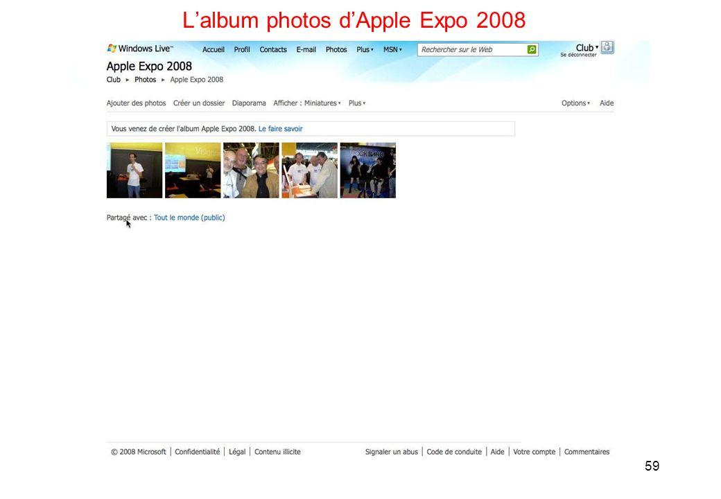 59 Lalbum photos dApple Expo 2008