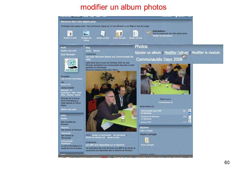60 modifier un album photos