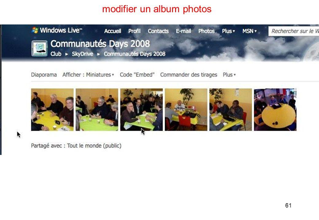 61 modifier un album photos
