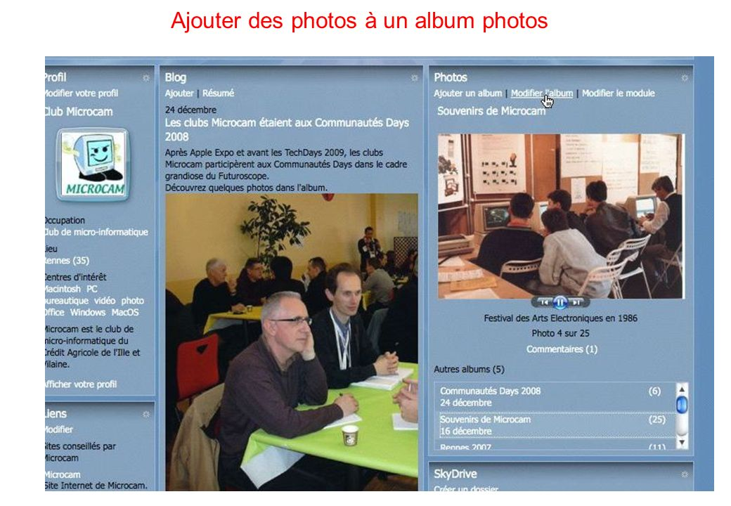 63 Ajouter des photos à un album photos