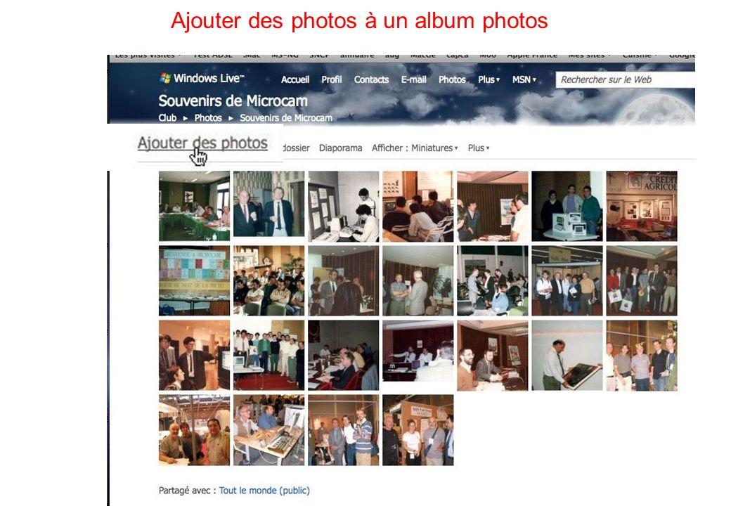 64 Ajouter des photos à un album photos