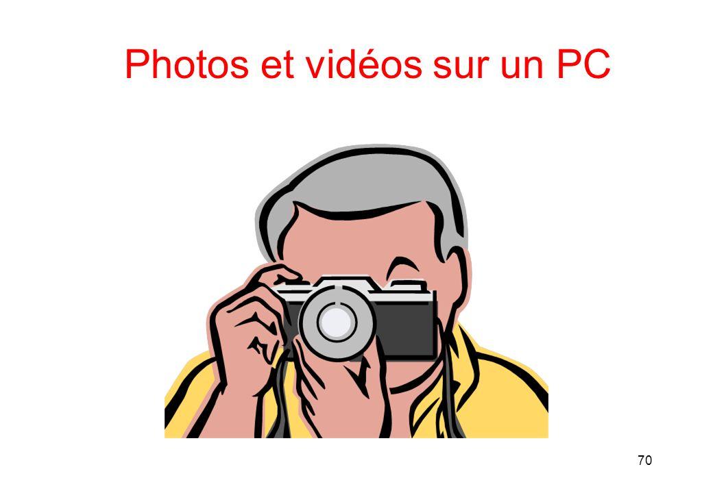 Photos et vidéos sur un PC 70
