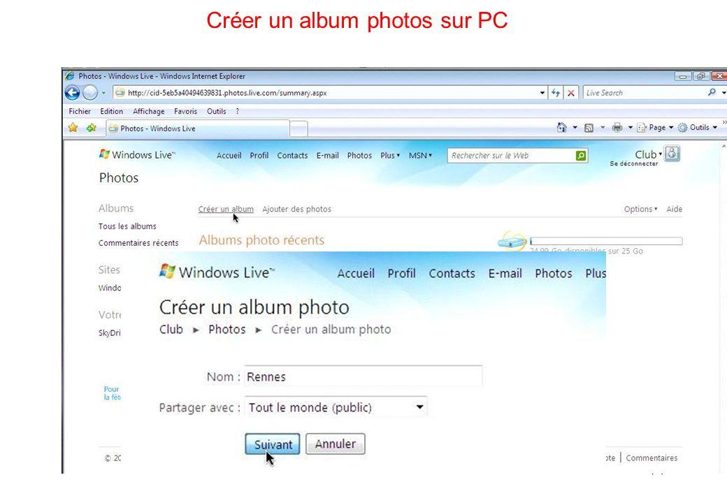 71 Créer un album photos sur PC