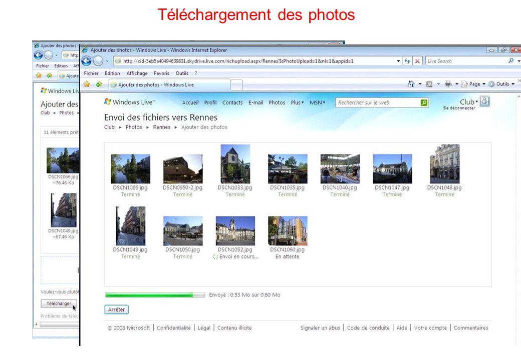 76 Téléchargement des photos