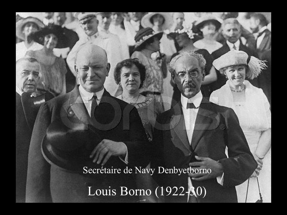 Secrétaire de Navy Denbyetborno Louis Borno (1922-30)