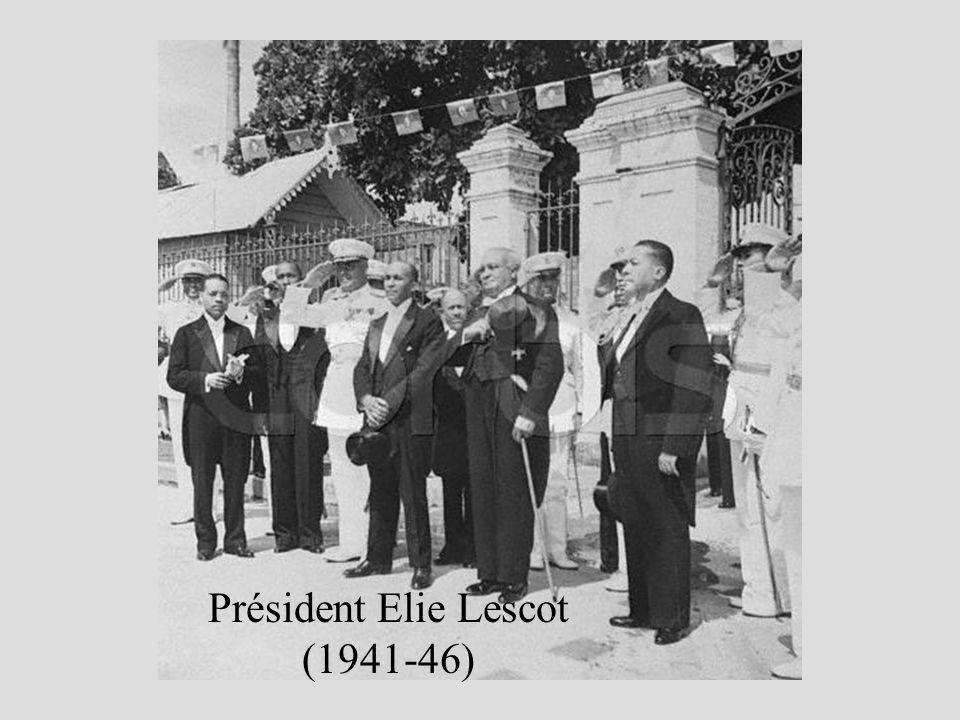 Président Elie Lescot (1941-46)