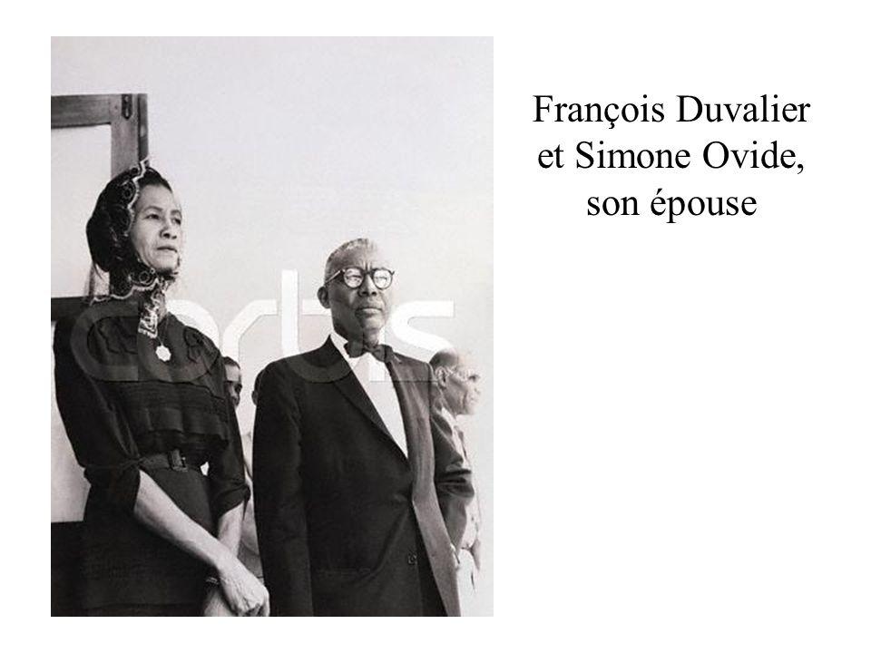 François Duvalier et Simone Ovide, son épouse