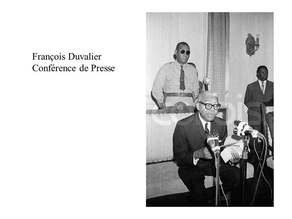 François Duvalier Conférence de Presse